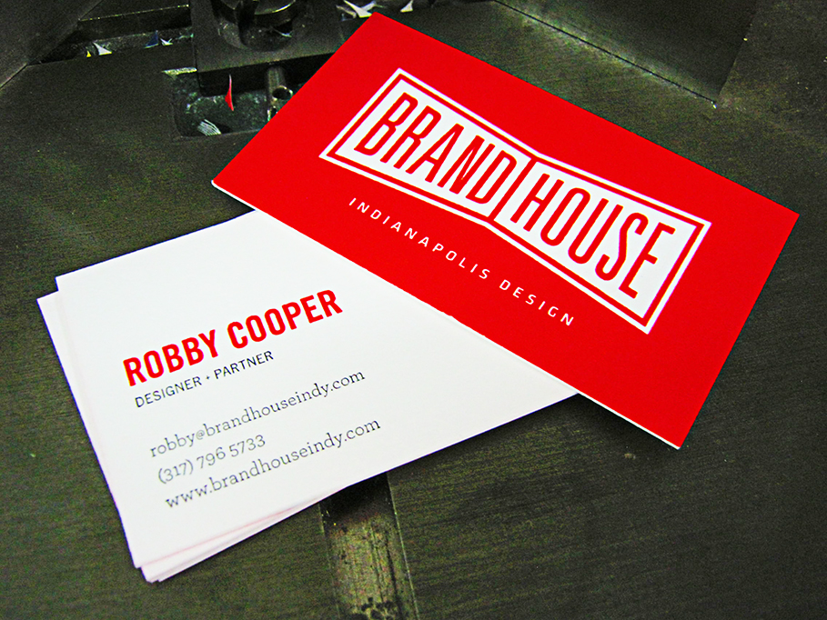 Letterpress Cards- Brand House
